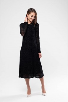 Платье из сетки черного цвета Marimay