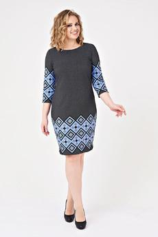 Платье с геометрическим рисунком Angela Ricci