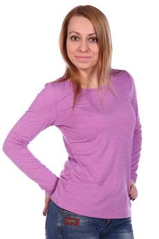 Розовая блузка с длинным рукавом ElenaTex со скидкой
