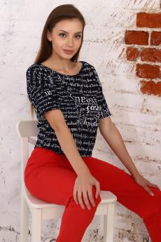 Укороченная широкая футболка Натали